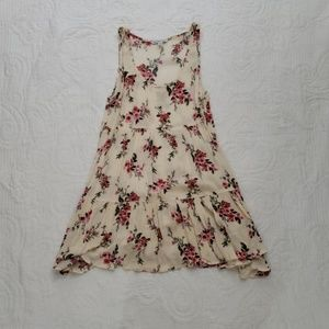 American Eagel Outfitters Cream Floral Dress